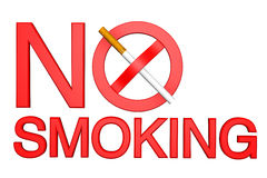 No Smoking sign on a white Royalty Free Stock Photo
