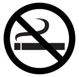 No smoking sign. In white background royalty free illustration