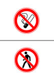 No Smoking Sign. On a white background illustrated Stock Photos