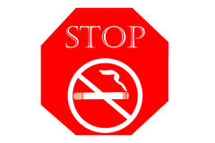 No smoking sign on white background, May 31 World No Tobacco Day Royalty Free Stock Photos