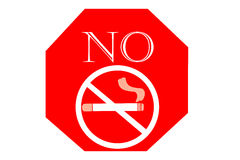 No smoking sign on white background, May 31 World No Tobacco Day Royalty Free Stock Image