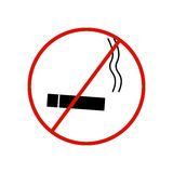 No smoking sign on white background Stock Image