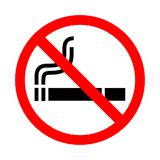 No smoking sign on white background. Stock Photography