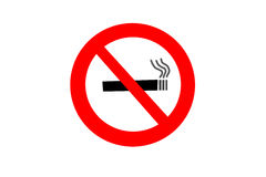 No smoking sign on white background Royalty Free Stock Image