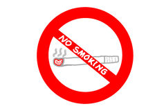 No smoking sign on white background Stock Photography