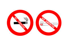 No smoking sign on white background. World No Tobacco Day. May 31 Stock Image