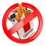 No smoking sign. on white isolated background. 3d Royalty Free Stock Images