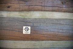 No smoking sign on wooden wall Stock Photography