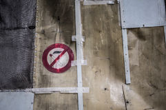 No smoking sign in a work area Royalty Free Stock Photography