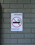No smoking signage in train station royalty free stock images