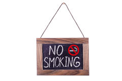 No smoking. Signboard. Isolated. It is written in chalk Royalty Free Stock Photos