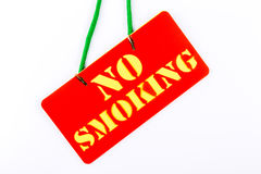 No smoking signboard on white background. Stock Photography