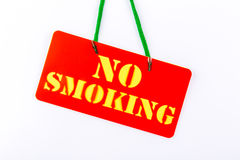 No smoking signboard on white background. stock image