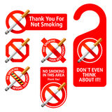 No Smoking signs. Vector illustration of No Smoking signs. Detailed portrayal Royalty Free Stock Photography