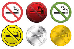 NO Smoking signs. Different style of NO smoking signs Royalty Free Stock Image