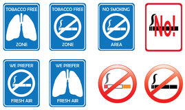 No smoking signs Stock Photos