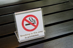 No smoking signs. Royalty Free Stock Images