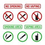 No smoking signs set Royalty Free Stock Photo