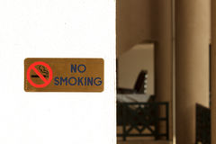 No smoking signs Stock Images