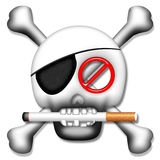 No Smoking Skull Stock Images