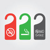 No smoking and smoking area Royalty Free Stock Photo