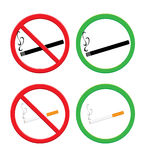 No smoking and smoking area Stock Images