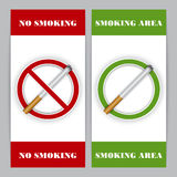 No smoking and Smoking area signs Royalty Free Stock Photo