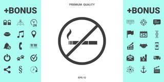 No smoking, smoking ban icon. Cigarette - prohibiting sign. Signs and symbols - graphic elements for your design royalty free illustration