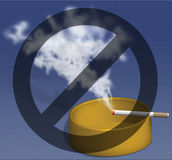 No Smoking - Smoking is death Royalty Free Stock Photos