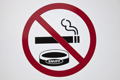 No smoking and snuffing Stock Photos