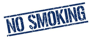 No smoking stamp. No smoking square grunge sign isolated on white. no smoking stock illustration