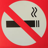 No Smoking sticker. Royalty Free Stock Photography