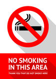No smoking sticker, flat design Royalty Free Stock Photography