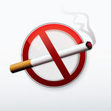 No smoking stop sign. Royalty Free Stock Image