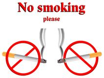 No smoking stylized signs Stock Photography