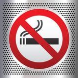 No smoking symbol on a chromium background.  vector illustration