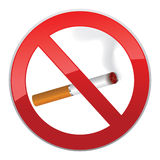 No smoking symbol. Inscription made of cigarettes on pure background Stock Photography