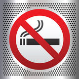 No Smoking Symbol On A Chromium Background Royalty Free Stock Photography