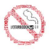 No smoking text clouds Stock Image