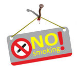 No smoking - is torture. Royalty Free Stock Image