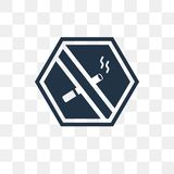 No Smoking vector icon isolated on transparent background, No Sm. Oking transparency concept can be used web and mobile, No Smoking icon vector illustration
