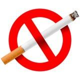 No smoking. Vector illustration of no smoking Stock Photos