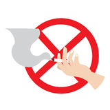 No smoking. Vector illustration of no smoking Royalty Free Illustration