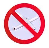 No smoking warning sign Stock Photography
