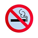 No smoking warning sign isolated Royalty Free Stock Photos