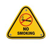 No smoking - yellow sign Stock Photos