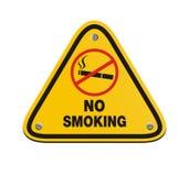 No smoking - yellow sign. No smoking suitable for warning signs Stock Photos