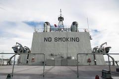 No smorking. Big no smoking sign in battleship Stock Images