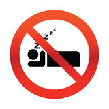No Snoring Sign. No sleeping sign on white illustration Royalty Free Stock Photos