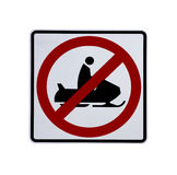 No snow. Mobiles sign on a white background Royalty Free Stock Images